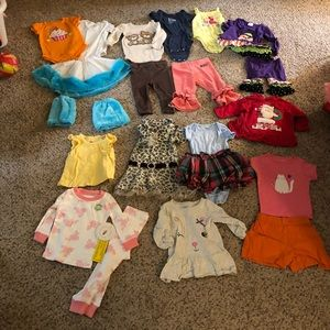 Little Lass Matching Sets - BIG box of 12 mo clothes